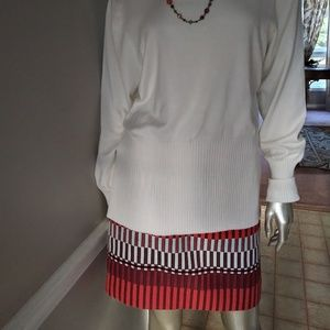 Orange Brown Multicolor Skirt